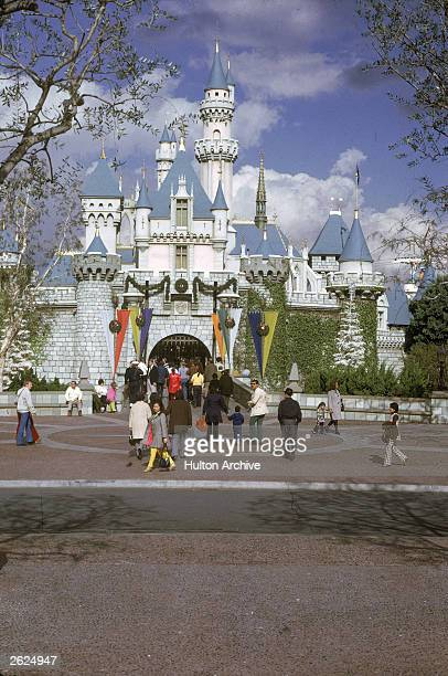 View of the castle at Disneyland in Anaheim California c 1970