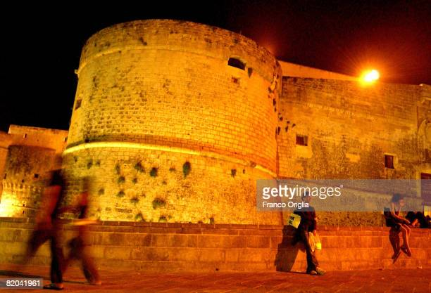 A view of the castle of Otranto on August 16 in Salento Italy Salento is that strip of land that forms the heel of the boot It is located between two...