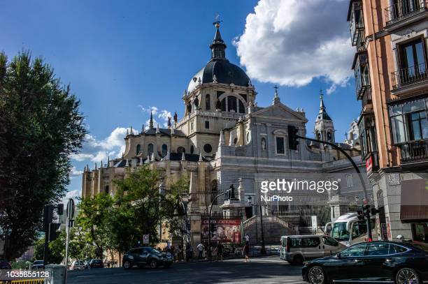 A view of the Catedral de la Almudena in Madrid Spain on September 17 2018