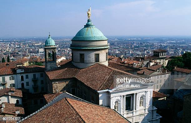 View of the Cathedral Citta Alta Bergamo Lombardy Italy