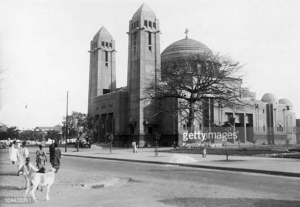 View Of The Cathedral In Dakar Senegal In The 1950'S1960'S