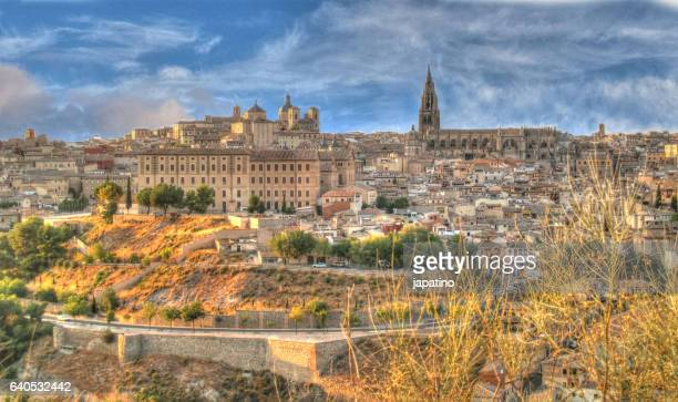 View of the Cathedral of Toledo and the old town