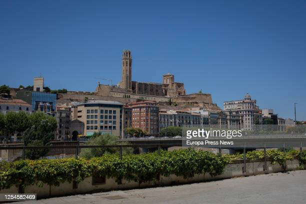 View of the cathedral Seu Valle at the town of Lleida, capital of the Segrià region, on July 6, 2020 in Lleida, Spain. The president of the...