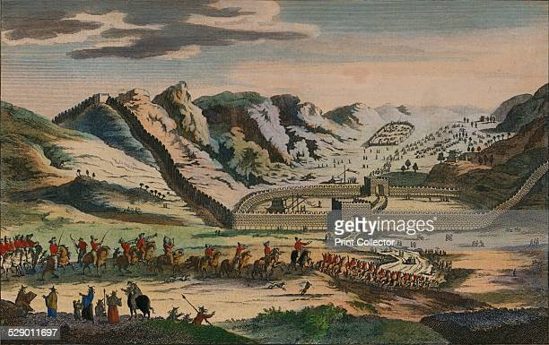 A View of the celebrated Great Wall of China which divides that Empire from Tartary was originally built to prevent the Invasions of the Tartars'...