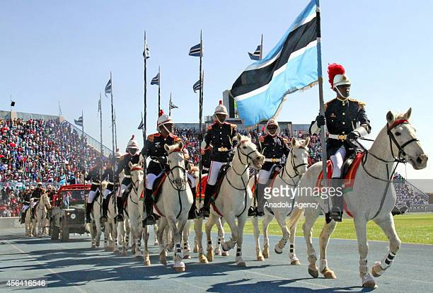 A view of the celebrations of 48th anniversary of Botswana's independence in National Stadium in capital city Gaborone Botswana on 30 September 2014