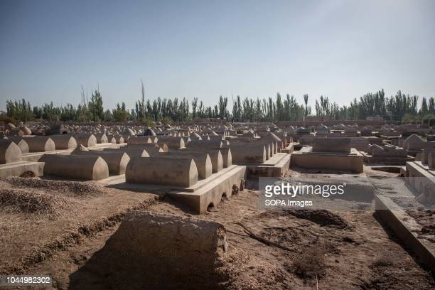 MAUSOLEUM KASHGAR XINJIANG CHINA A view of the cemetery next to the Afaq Khoja Mausoleum knows as the holiest Muslim site in Xinjiang located 5km...