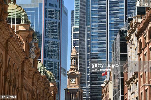 A view of the central business of Sydney is seen ahead of the interest rate announcement on November 7 2017 Australia's central bank left interest...