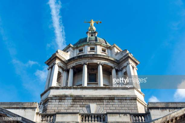 View of the Central Criminal Court of England and Wales, commonly referred to as the Old Bailey in the City of London.