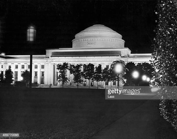 A view of the Central Dome of the Education building and laboratories of the Massachusetts Institute of Technology in Cambridge Massachusetts Circa...