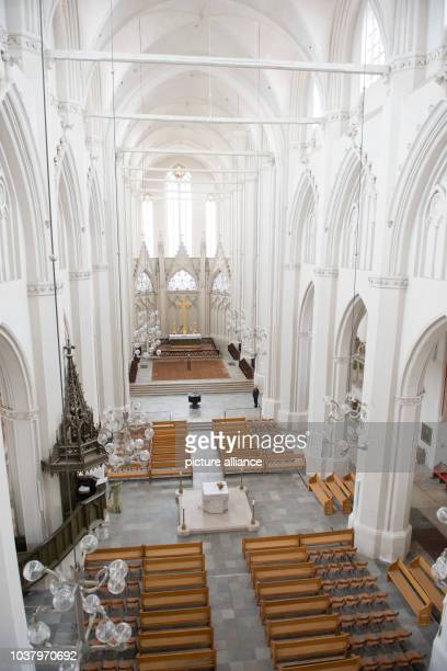 A view of the central nave of the 700 year old 'Dom St Nikolai' in Greifswald Germany 29 January 2013 25 years ago the cathedral has been redeveloped...