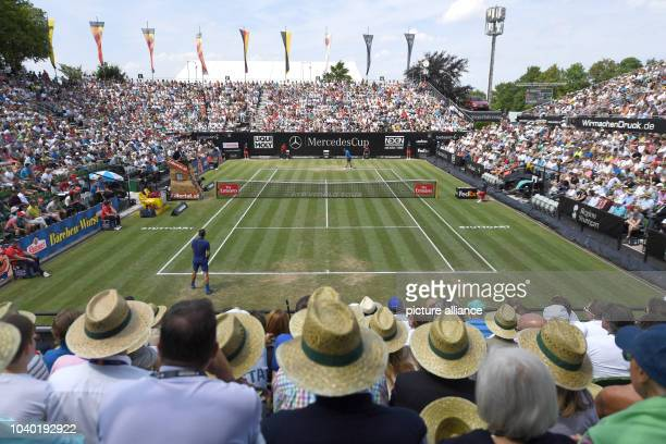 View of the Centre Court during the match between Roger Federer from Switzerland and Florian Mayer from Germany at the quarterfinals of the ATP...