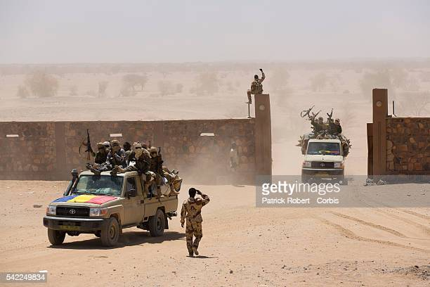 A view of the Chadian army military base in Kidal Since early February Chadian and French troops have occupied Kidal using it as a key military base...