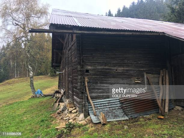 View of the chalet where Jose Antonio Urrutikoetxea Bengoetxea also known as Josu Ternera, one of the most influential leaders of former Basque...