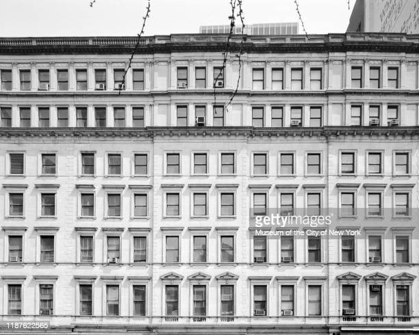 View of the Chambers Street facade of 280 Broadway New York New York circa 1975 Originally the AT Stewart Dry Goods Store and the onetime Sun Building