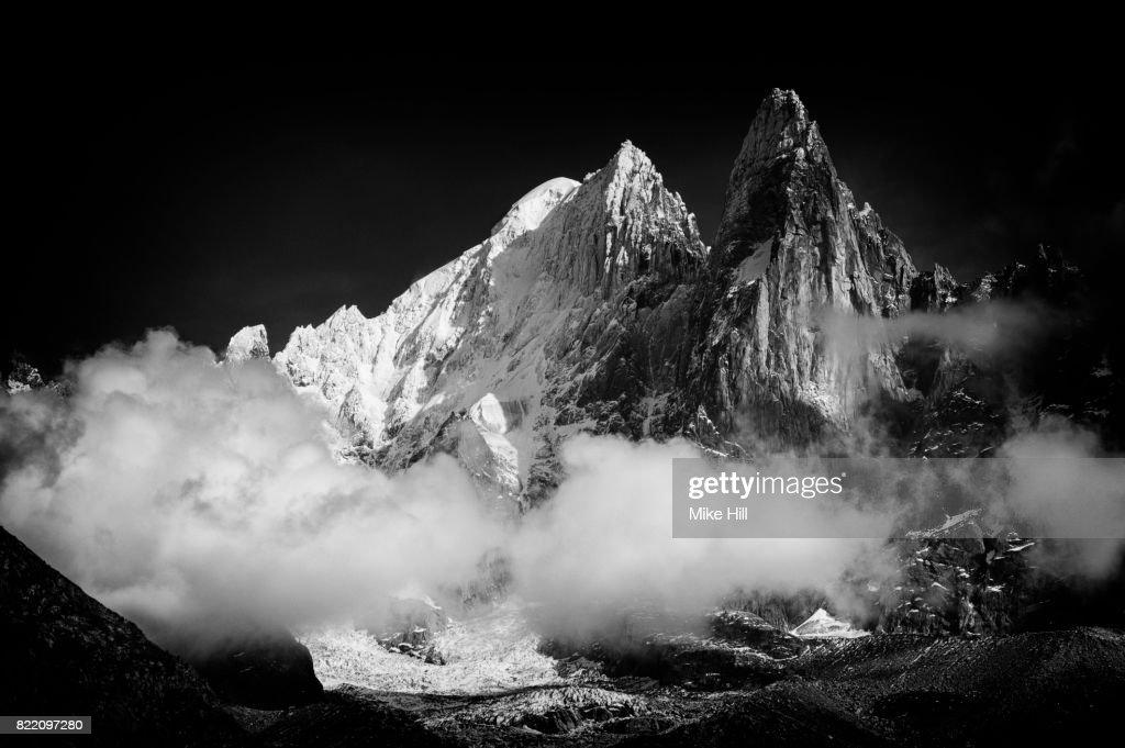 View of The Chamonix Needles, French Alps : Stock Photo