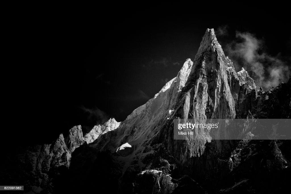 View of The Chamonix Needles,French Alps : Stock Photo