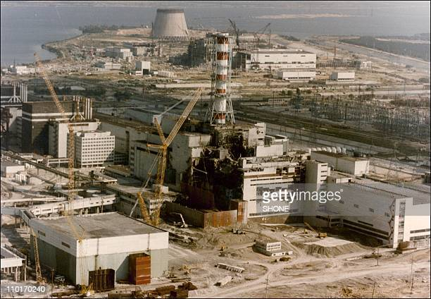 View of the Chernobyl Nuclear power plant three days after the explosion on April 29, 1986 in Chernobyl:,Ukraine.