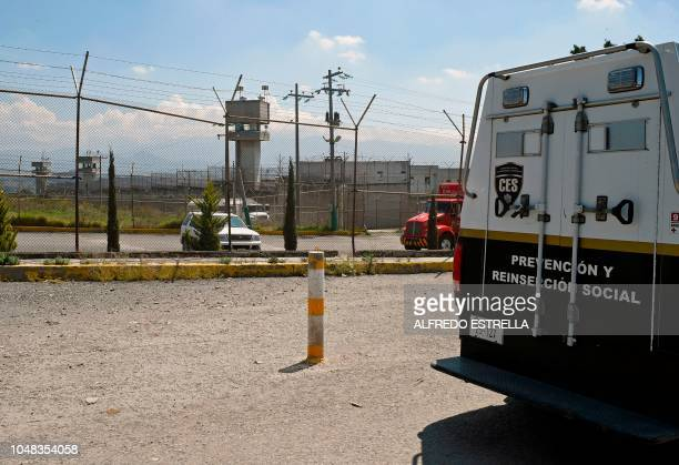 View of the Chiconautla prison where the alleged murderers of 20 women are detained waiting for a sentence in the municipality of Ecatepec about 30...