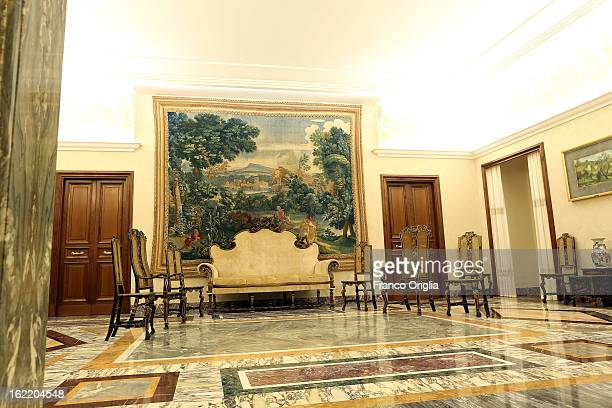 A view of the Chinese Room at the Apostolic Palace of Castelgandolfo on February 20 2013 in Rome Italy The Apostolic Palace and The Pontifical Villas...