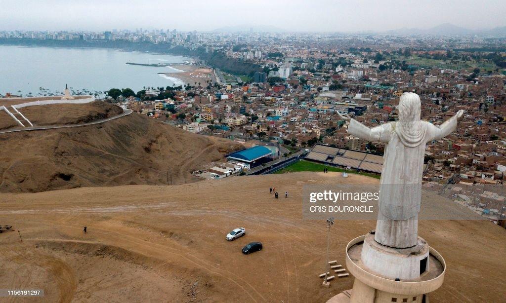 PERU-BRAZIL-CORRUPTION-ODEBRECHT-CHRIST : News Photo