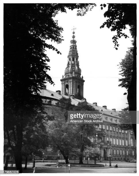 View of the Christiansborg Palace in Copenhagen, Denmark.