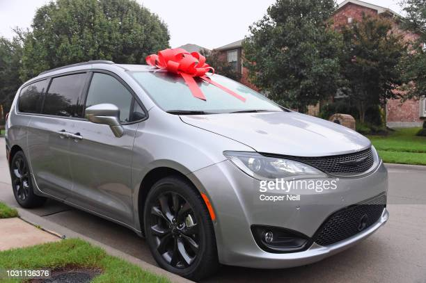 A view of the Chrysler Pacifica vehicle ABC's Jimmy Kimmel Live gifted to Dominique and Alexis Swinney and family on September 10 2018 in McKinney...