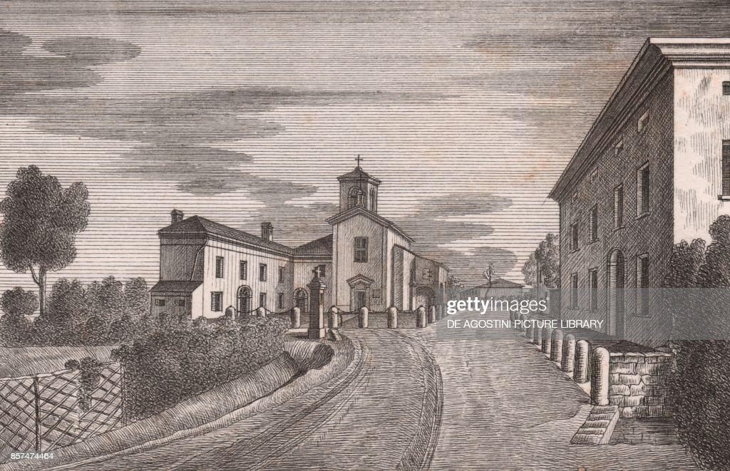 View of the Church of San Giacomo della Croce del Biacco, Bologna ...