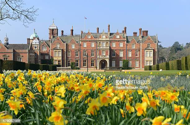A view of The Church of St Mary Magdalene on Queen Elizabeth II's Sandringham Estate on June 5 2015 in Norfolk England This is where Princess...