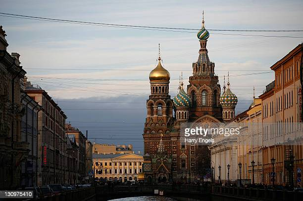 A view of the Church of the Saviour on Spilled Blood on October 30 2011 in Saint Petersburg Russia St Petersburg Russia's second largest city is one...