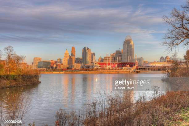 View of the Cincinnati skyline from Licking River