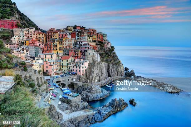 view of the Cinque Terre village of Manarola