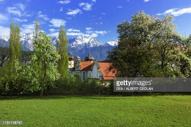 View of the Cistercian Abbey of Stams, Tyrol, Austria, 13th-18th century.