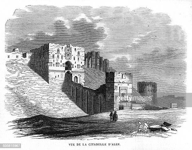View of the Citadel of Aleppo. Syria. Along with Dumas, it is one of the oldest towns in the region; it existed during the paleo-babylonian period ,...