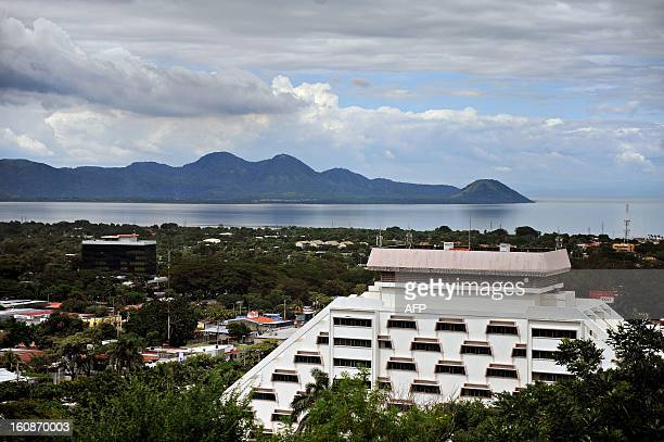 View of the city and the Managua Lake in the background in Managua on October 19 2009 AFP PHOTO/Elmer Martinez / AFP PHOTO / ELMER MARTINEZ