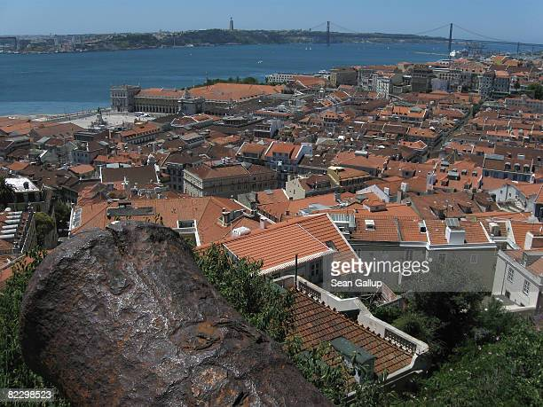 View of the city center from Sao Jorge Castle on July 23 2008 in Lisbon Portugal Portugal is becoming an increasingly popular tourist destination
