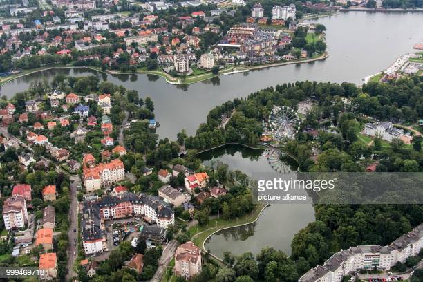 View of the city center in Kaliningrad Russia 27 August 2017 The city is one of the playing sites for the FIFAWorld Cup 2018 in Russia Photo Marius...