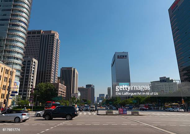 View of the city center national capital area seoul South Korea on May 17 2016 in Seoul South Korea