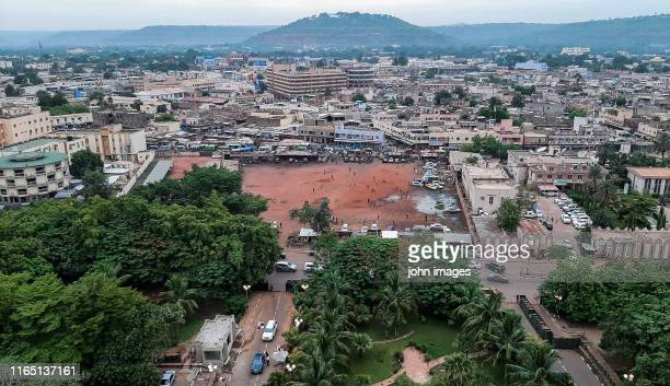 view of the city center of bamako - mali stock pictures, royalty-free photos & images