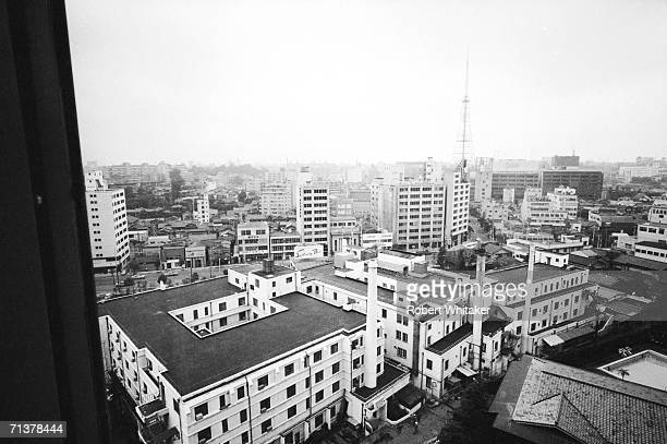 A view of the city from the Beatles suite at Tokyos Hilton Hotel during the band's tour of Asia 1966