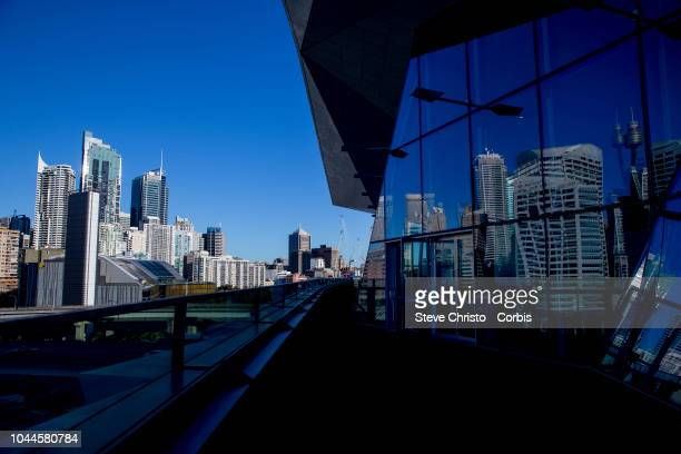 A view of the city from the ICC building at Darling Harbour on September 19 2017 in Sydney Australia