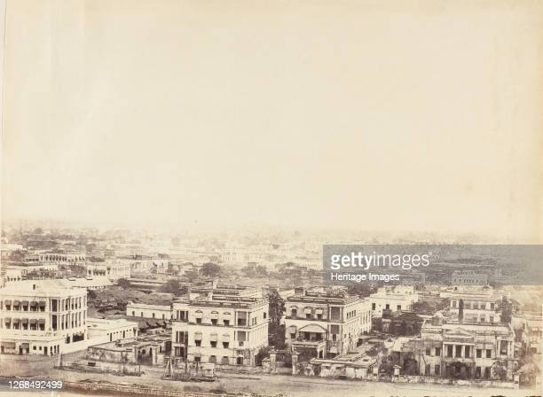 [View of the City from the Ochterlony Monument, Calcutta], 1850s. Artist Captain R. B. Hill.