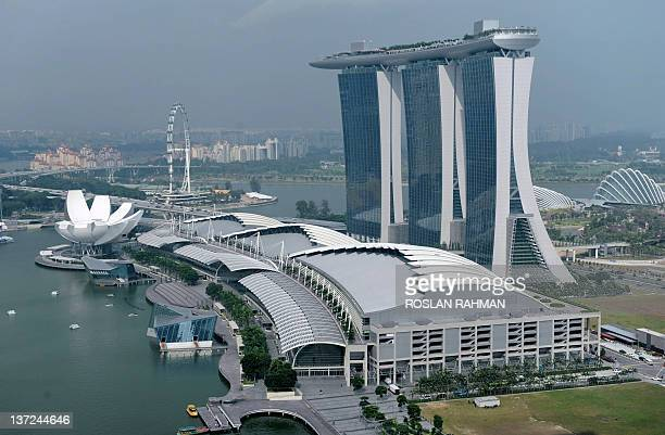 A view of the city including Marina Bay Sands hotels and casino in Singapore on January 17 2012 Singapore's key nonoil exports unexpectedly rose for...