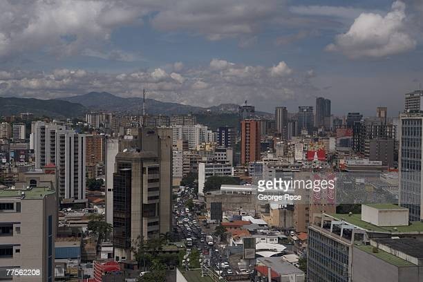 View of the city looking west is seen in this 2007 Caracas, Venezuela, South America, urban landscape photo.