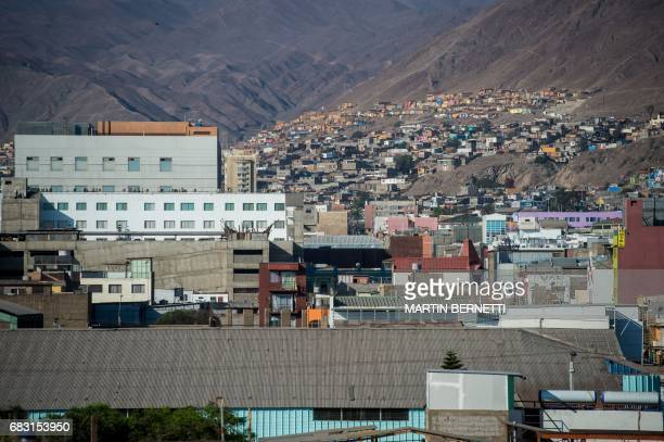 View of the city of Antofagasta from the building where Chilean Jaqueline Jimenez used to live opposite to the port on March 9 2017 An official study...