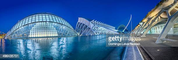 View of the City of Arts and Science and Oceanografic Centre Valencia Spain.