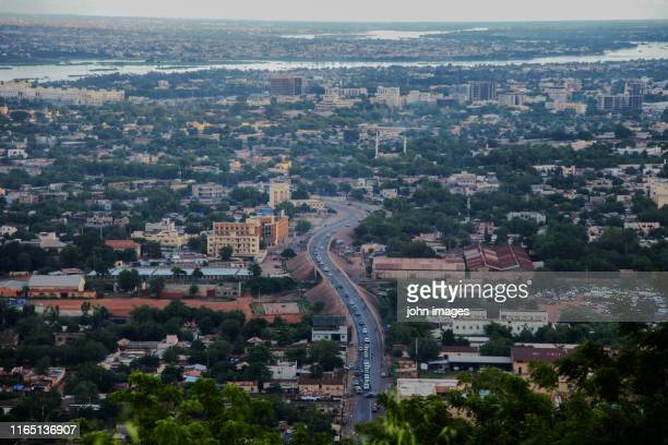 view of the city of bamako - bamako stock pictures, royalty-free photos & images