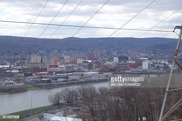 A view of the city of Binghamton an economically struggling city in upstate New York on April 12 2016 / AFP / William EDWARDS / TO GO WITH AFP STORY...
