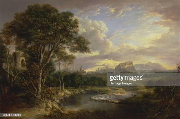 View of the City of Edinburgh, ca. 1822. Artist Alexander Nasmyth. .