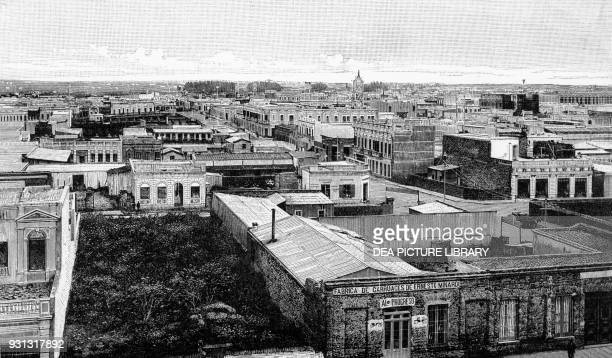 View of the city of La Plata a few years after its founding in 1882, Argentina, engraving from Geographie de la Republique Argentine, by Francisco...