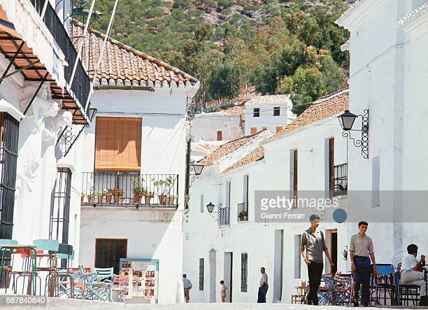 View of the city of Mijas Malaga Spain